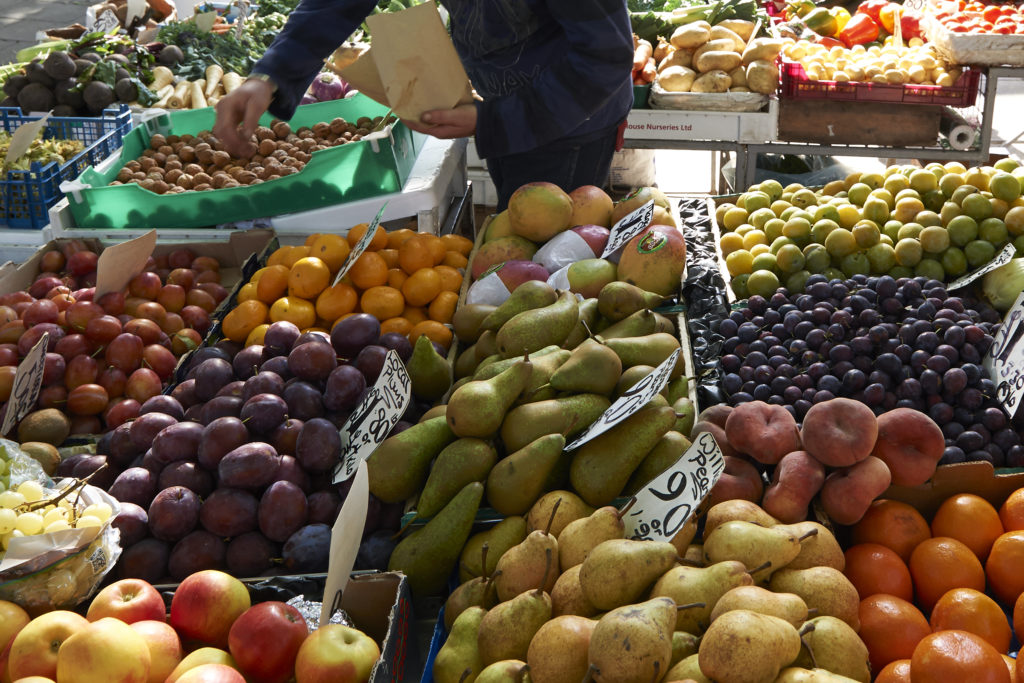 Fruit and veg at Norwich Market.