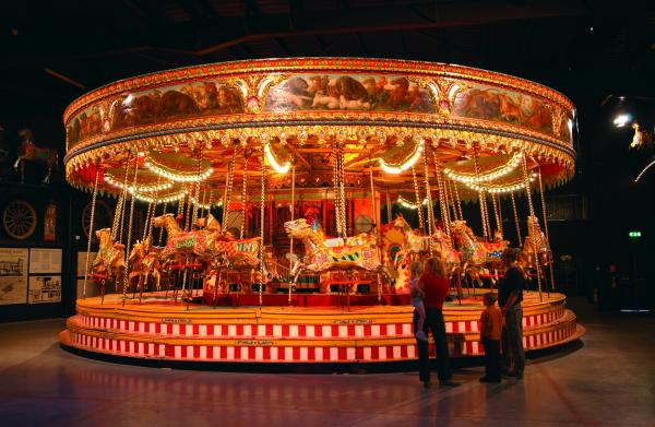 The fairground rides at Thursford Colelction will surely prove a hit with the grandchildren