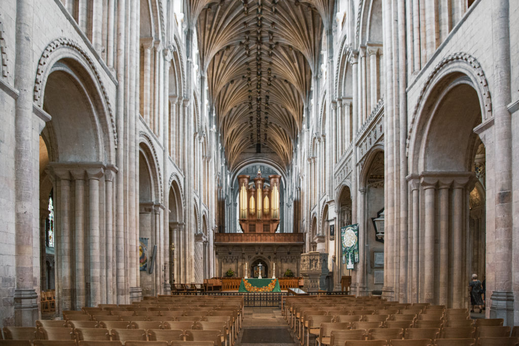 Inside the Norwich Cathedral, a top destination to visit in Norwich