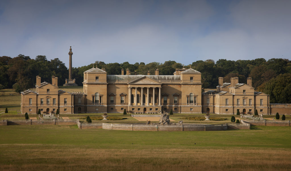 Exterior of Holkham Hall from the south in September 2011.