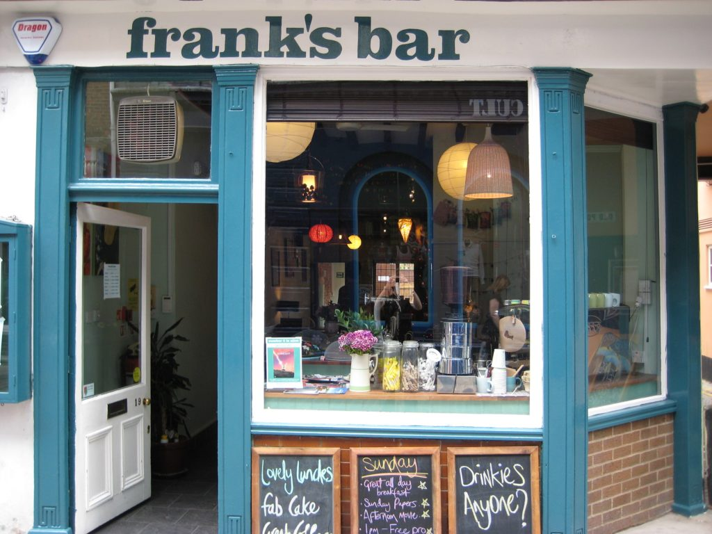Exterior of Frank's Bar in Norwich