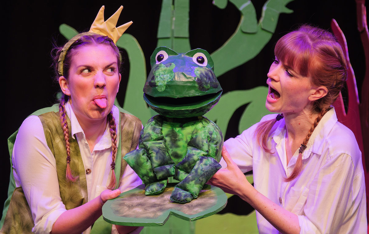 stage production of little grimm tales at Norwich Puppet Theatre