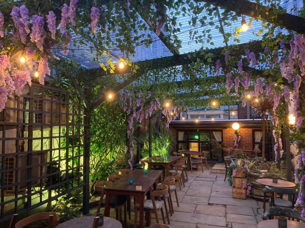 The beautiful Inside Out Courtyard at the Maids Head