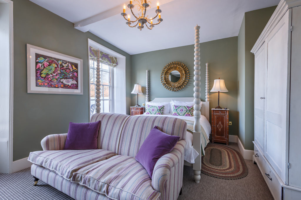The rooms at The Assembly House are cosy and luxurious, making for the perfect winter break destination