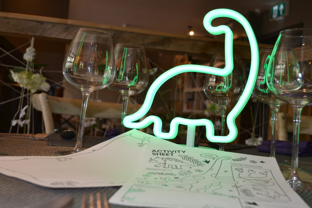 City Food Trail in Norwich will have dino-themed menus, and colouring sheets for the kids