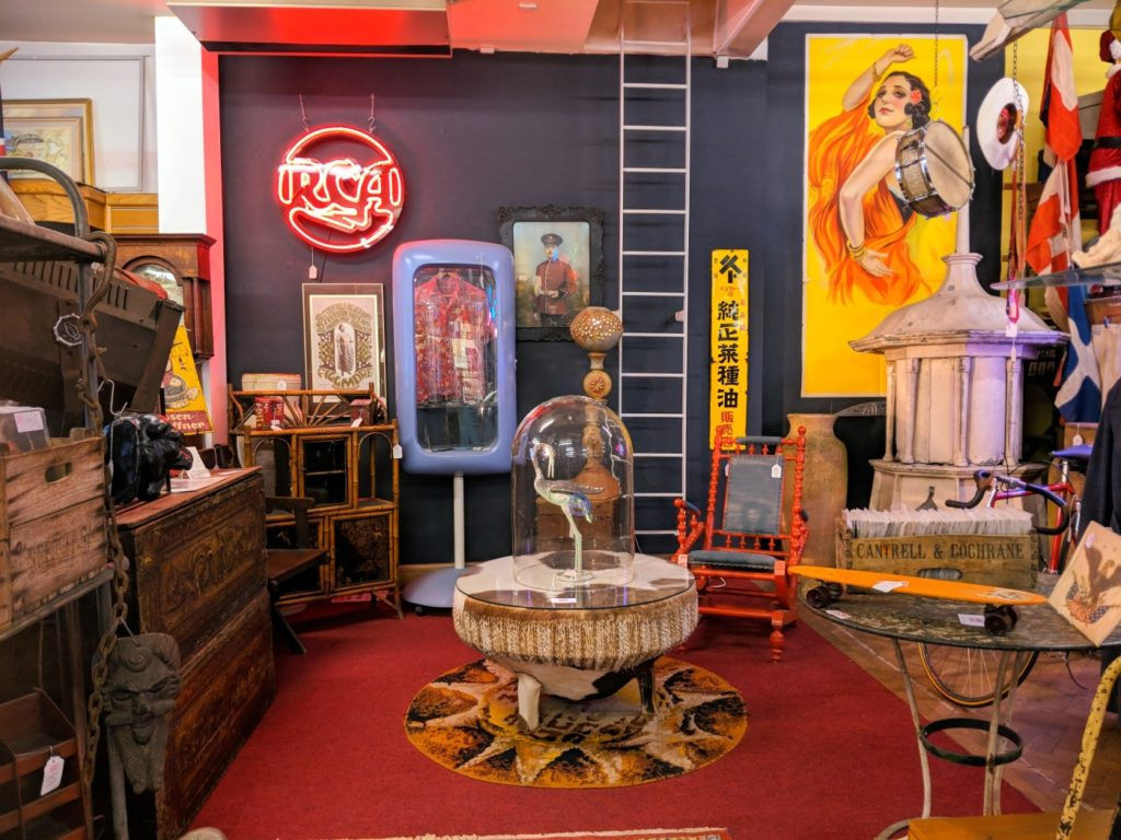 Vintage and antique shopping at Loose's on Magdalen Street