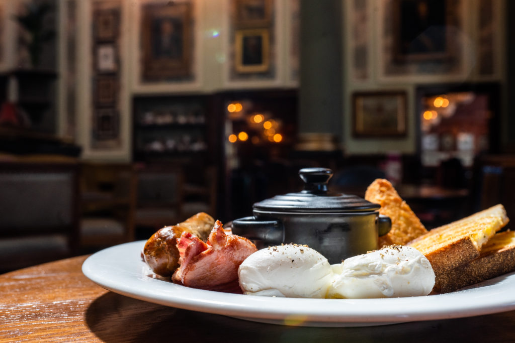 Breakfast food at The Cosy Club
